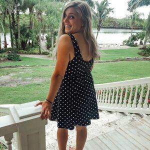 Dresses & Skirts - Vintage Mini Polka Dot Dress